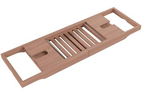 Zeller Badewannenablage, Bambus/Metall - 8