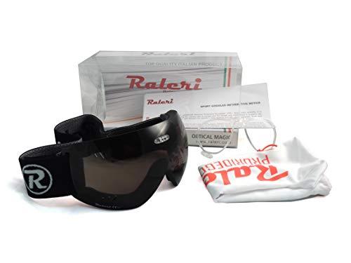 Raleri SportGoggles – Máscara de protección fabricada en Italia (Dark Brown)
