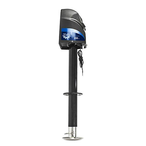 Jeremywell Electric Power A-Frame Trailer Tongue Jack 4000 Lbs Heavy Duty with Screw and Drop Leg...