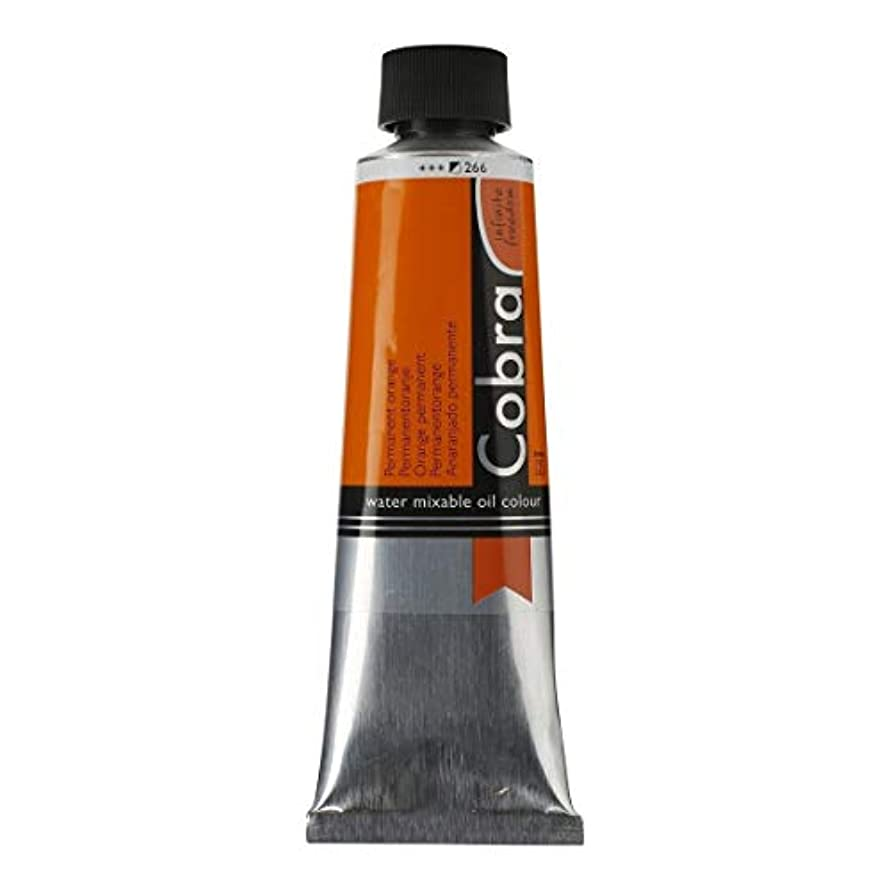 Cobra Water-Mixable Oil Color 40 ml Tube - Permanent Orange
