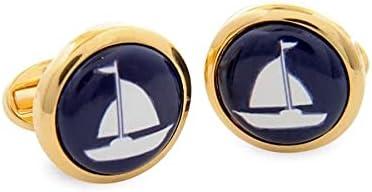 Halcyon Days Sailing Boat Cufflinks - CLSAB11RDG
