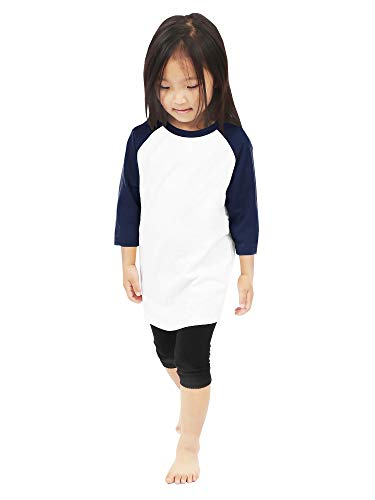 Hat and Beyond Kinder Raglan-Baseball-T-Shirts, 3/4 Ärmel -  mehrfarbig -  X-Small