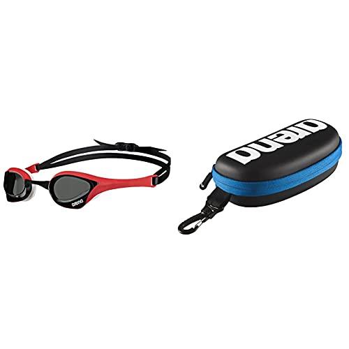ARENA Cobra Ultra Occhiali Da Nuoto, Unisex Adulto, Unisex Adulto, Cobra Ultra, Nero (Smoke, Rosso, Bianco) & Goggle Case, Astuccio Per Occhialini Unisex Adulto, Nero (Black, Blanco, Royal)