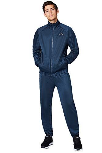 Kappa Trainingsanzug Villos für Herren, bequemer Tracksuit für Sport, Freizeit und Reisen, die Jogginghose & Trainingsjacke sind atmungsaktiv, schnell trocknend, Dress Blues, Größe L