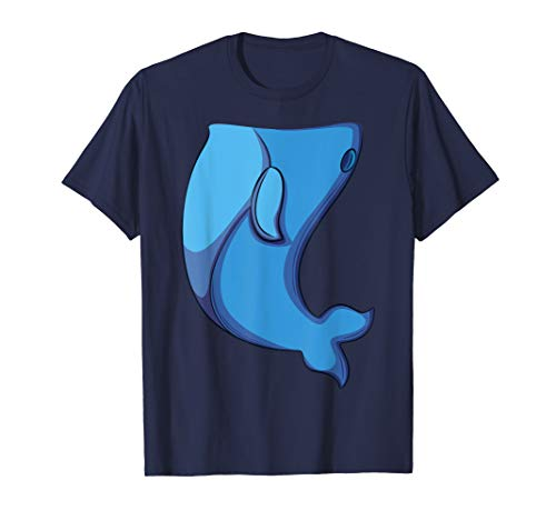 Whale Costume T-Shirt for Halloween Whale Fish Cosplay Tee