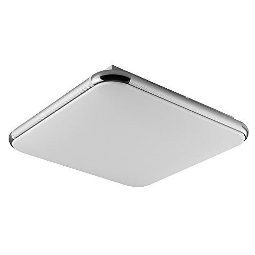 36W Dimmbar Deckenleuchte, LED Modern Deckenlampe mit Fernbedienung Ultraslim Quadratische Panel Deckenbeleuchtung Deckenstrahler Schlafzimmer Küche Flur Wohnzimmer Lampe Von Fairyland