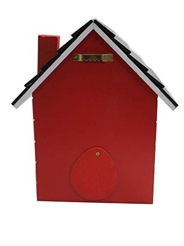 Vogelhaus Nistkasten 20cm bunt (rot) - 3