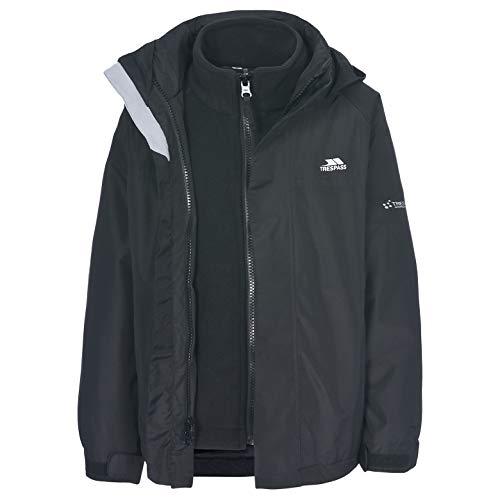 SKYDIVE Unisex Kid's 3 in 1 Jacket BLACK 2/3
