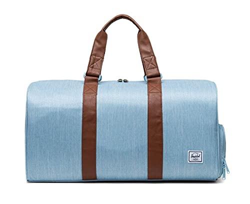 Herschel Sporttasche, Crosshatch aus leichtem Denim (Blau) - 10351-04690-OS