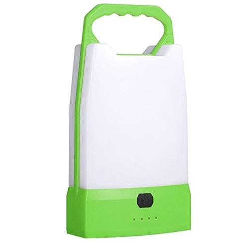 Luz Trabajo Portátil, Foco LED USB Recargable, 5 Modos, Banco Energía, Resistente Agua, Linterna Cámping para Emergencia, Pesca, Cortes De Energía Y Más,Verde