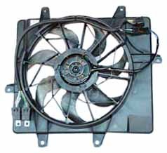 TYC 621240 Chrysler PT Cruiser Replacement Radiator/Condenser Cooling Fan Assembly