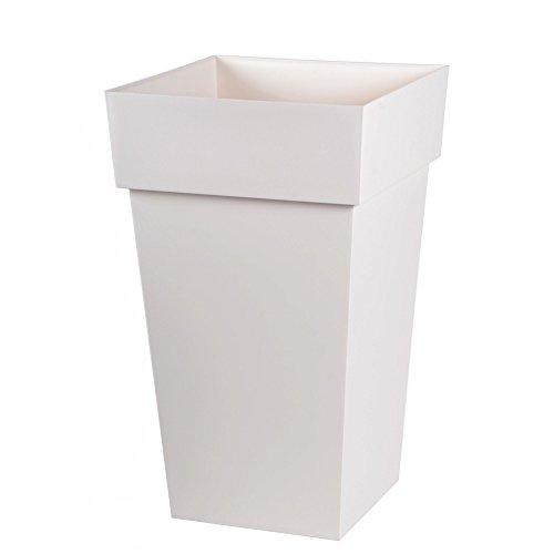 Toscane Pot carré H65cm blanc