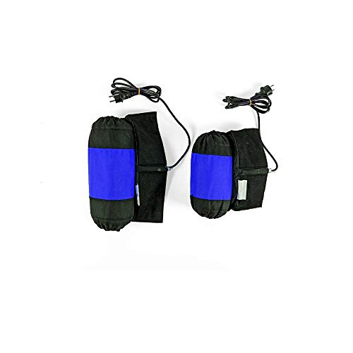 HWH Carrera Neumático Calentador Motocicleta Neumático Calentador 110/140 Delantero y Trasero 1 Par Calefacción Neumático Manta eléctrica 80 Grados Durable (Color : Blue)
