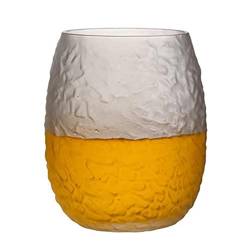 UKKD Biergläser Bierbecher Packung Von 4 Cocktail Glas Whisky Wodka Kaffee Wasser Becher Home Drinkware Champagner Schnapsbrille Transparente Tassen