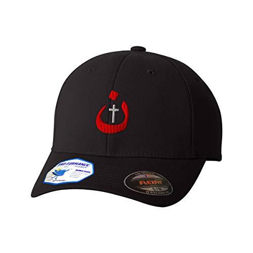 Flexfit Hats for Men & Women Christian Nazarene Jesus God Embroidery Polyester Dad Hat Baseball Cap Black Design Only Small Medium