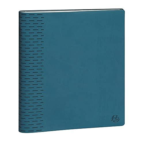 Exacompta 204463E Visuel 7 Winner – od września 2020 r. do sierpnia 2021 – tydzień na 2 stronach – zdejmowana pokrywka, miękki materiał, 15 x 21 cm, kolor kaczy niebieski