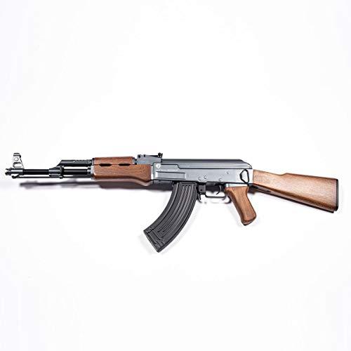 Softair Fucile Kalashnikov Ak47 - Polimero e Metallo, Caricatore 550 colpi, Batteria e Caricabatterie, Sparo a Colpo Singolo o a Raffica, Lunghezza 87.5 cm, Peso 2760 g, Potenza <1 j (da 16 Anni)