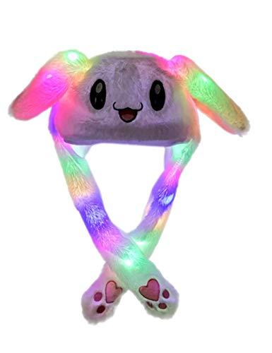 Bestgift heren en dames schattige met LED voor Halloween en kerstfeest lief konijnhoed