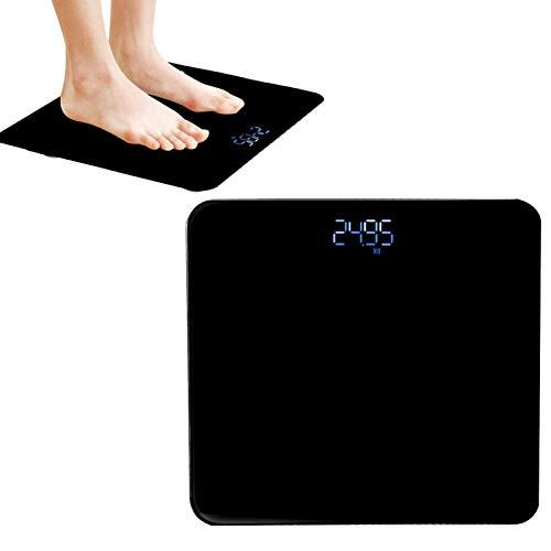 Salle de bains domestique LED Numérique USB Mesure de haute précision Poids du corps Ruban à mesurer Balance de graisse corporelle Mesure du poids [Noir], Smart Touch Balance de poids Balance de sall