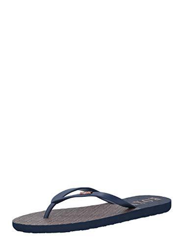 Roxy Womens VIVA STAMP,Basic Sandal, NAVY STRIP, NAVY STRIP, 40 EU