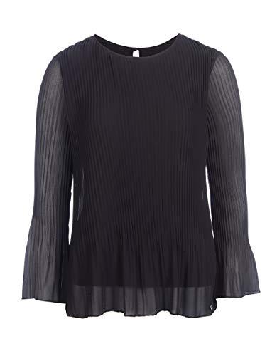 STEILMANN by Adler Mode Damen Plissee Bluse schwarz 40