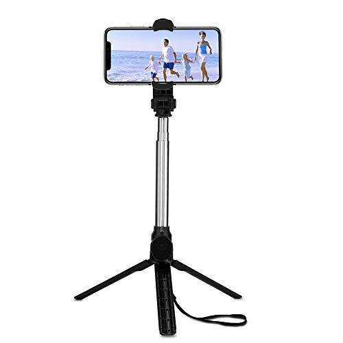 Halsey99 Selfie sostenedor del trípode, Universal telescópico Selfie Palo Remoto inalámbrico del trípode del Montaje del sostenedor para el teléfono iPhone Samsung DSLR GoPro