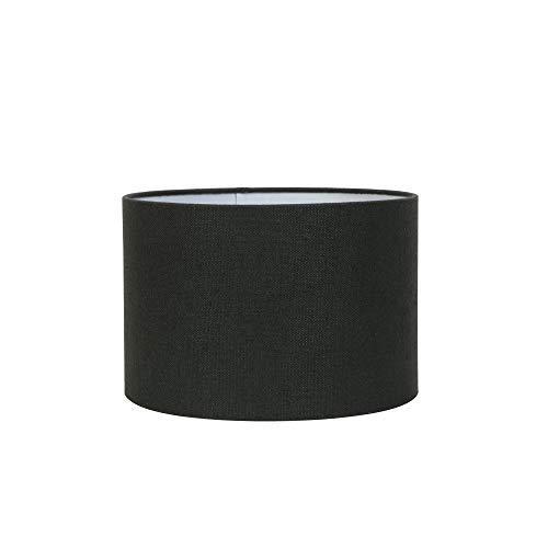 Light & Living Lampenschirm Zylinder Livigno - Antrazit - Ø40 x 30 cm - Baumwolle/Leinen