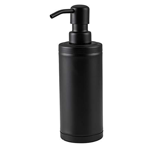 GAPPO Matte Black Soap Dispenser Stainless Steel Metal Pump Hand Lotion Bottle for Bathroom, Bedroom and Kitchen