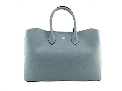 Tosca Blu Glicine shopping bag in pelle con tracolla amovibile