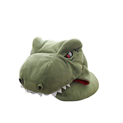 La piel de imitación del casquillo del sombrero animal dinosaurio Headwear Gorra divertido de la novedad de fotos Puntales accesorios del traje de favores cumpleaños partido del carnaval zcaqtajro