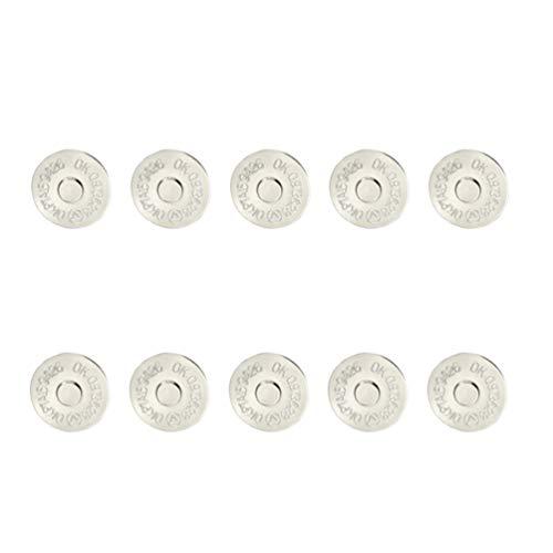 Healifty 100 Piezas Cierre de Bolsa Magnética Botones de Bolsa Broches para Cierre Monederos Bolso Ropa Costura Artesanal Scrapbooking 18Mm Plata