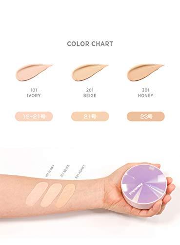 moonshot(ムーンショット)クッションファンデ[BEIGE/SPF50+PA+++15g]ツヤ肌水光肌UVカット保湿マイクログラッシーフィットクッション韓国コスメSHINBEE