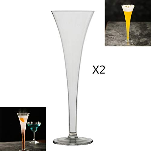 FXnn Copas de Vino hogar - Trompeta, Copa de Vino Rojo, Vidrio, cubilete, Vidrio del champán, el hogar, al Aire Libre, Juego de 2