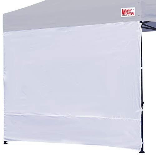MASTERCANOPY Instant Canopy Tent Sidewall for 10x10 Pop Up Canopy,1 Pack (10x10 Feet, White)