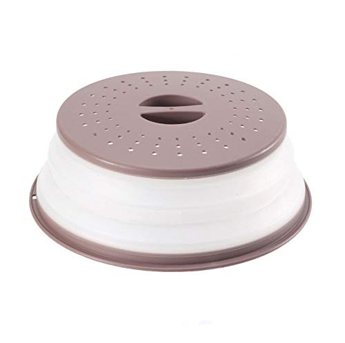 Cubierta de salpicaduras de horno de microondas, Cubierta de comida plegable Cesta de drenaje hueca, con mango Herramientas necesarias (Color : 3)