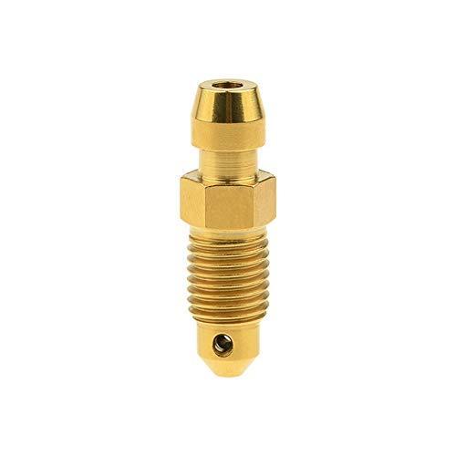 Threaded Titanlegierung Ti M8 M10 Bolzen P1.0 1,25 mm for Motorrad Bremssattel Ölablass Deflations Schrauben (Farbe: Gold, Länge: 1,0 mm) äußerlich