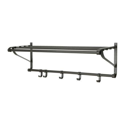 IKEA PORTIS -Hutablage schwarz - 90 cm
