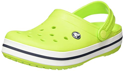 Crocs Kids' Crocband Clog | Slip On Shoes for Boys and Girls | Water Shoes, Lime Punch, 5 US Toddler