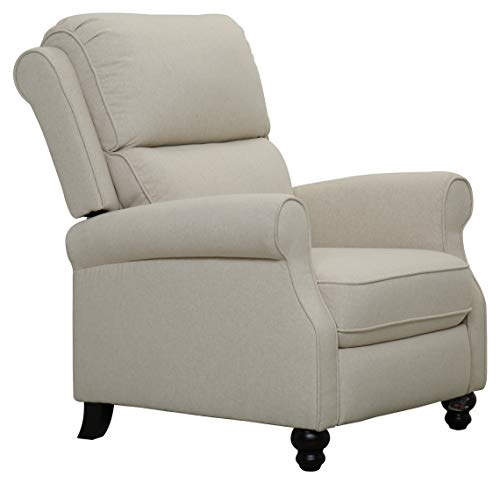 Amazon Brand – Ravenna Home Push-Back Recliner Living Room Chair, 33.9'W, Beige
