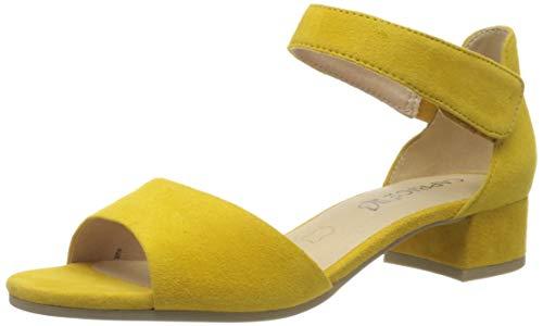 CAPRICE Damen Carla Geschlossene Sandalen, Gelb (Yellow Suede 641), 40.5 EU
