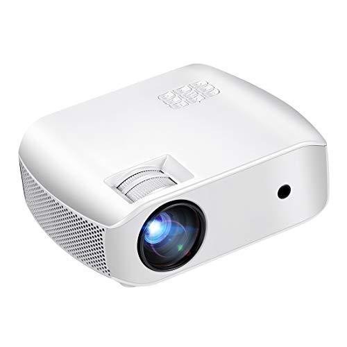 Proyector Mini portátil 4K HD 1080P del proyector LED F10UP LCD de 4 pulgadas Panel de pantalla de 2800 x 1280 lúmenes 720P Proyector del teatro casero con mando a distancia, Android 7.1 OS 2 GB + 16