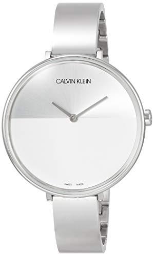 Calvin Klein Unisex Erwachsene Analog-Digital Quarz Uhr mit Edelstahl Armband K7A23146