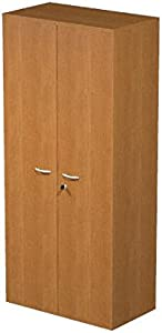 Ideapiu Mobile Melamine Beech Laminate with Doors without Lock  Mis  80 nbsp x 33 nbsp x 180H  Wardrobe with 3 nbsp Shelves