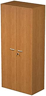 Ideapiu Mobile Laminate Melamine Grey with Doors without Lock  Mis  80 nbsp x 33 nbsp x 180H  Wardrobe with 3 nbsp Shelves