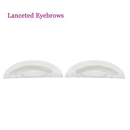 1 paire de tampons à sourcils naturels éponge sourcils forme parfaite kit d'outils de maquillage 3 types(Willow leaf sponge + handle set)