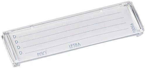 Btv - Juego tarjetero plastico 78x22mm transparente(10u)
