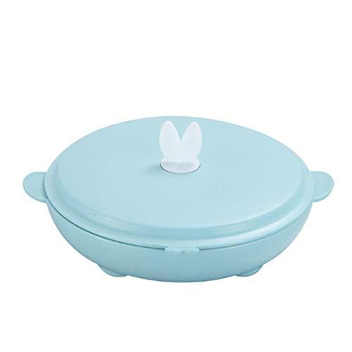 TKG Autour Belle boîte à Lunch avec des Compartiments contenants Alimentaires Inoxydable échaudage de Bureau de l'école Arts de la Table,Bleu
