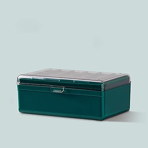 Aexle Joyero de plástico grueso, resistente al polvo, portátil, para pendientes, anillos, collares, pendientes, etc.