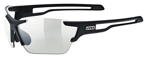 uvex Unisex– Erwachsene, sportstyle 803 V Sportbrille, selbsttönend, black mat/smoke, one size