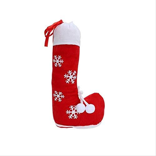 vcdee La más Nueva Bolsa de Dulces de Navidad Forma de Bota de Navidad Patrón de Copo de Nieve Bolsa de Bota Zapatos de Navidad clásicos Bolsa de Regalo Bolsa de Regalo para niños